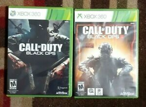 Call Of Duty Black OpsI & II 1 & 2 Lot (Vbox 360) VG Shape & Tested