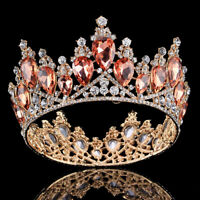Champagne Crystal Rhinestones Craved Euro Style Close Circle Crown