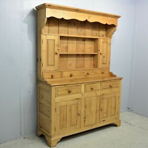 Antique pine welsh dresser kitchen with spice drawers delivery available