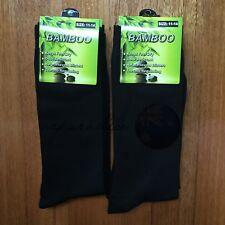 6 Pairs SIZE 11-14 95% BAMBOO SOCKS Men's Premium Work/School Socks Black