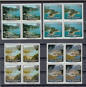 New Zealand: 1979 Small Harbours set of 4 in blocks of 4 L/Jury 638-41 MUH.Cheap