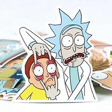 "Rick and Morty Eye Open Sticker (3""x 3"") High Quality - Adult Swim Season 3 DIY"
