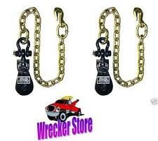 Qty 2, 2 TON SNATCH BLOCK w/ Chain FOR WRECKER TOW TRUCK ROLLBACK CARRIER HAULER