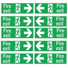 Fire Exit Sticker Sign Emergency Escape Fire Drill