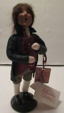 """Byers' Choice Carolers Colonial Williamsburg Xmas 1998 Boy With Flute 10"""" Tall"""