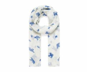 Ivory polar White  bear print scarf woman's Scarves