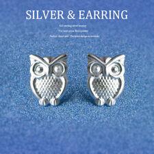 UK HOT OWL 925 STERLING SILVER PLT EAR STUD EARRINGS BUTTERFLY LADY GIRL