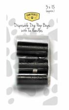 Doggy Poop Bag Dispenser Refill Rolls 3 x 15