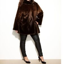 Jones New York Women's Winter heavy faux-fur Ombre Swing Coat jacket plus2X to3X