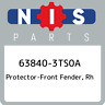 63840-3TS0A Nissan Protector-front fender, rh 638403TS0A, New Genuine OEM Part