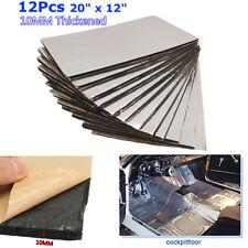 12Pcs 10mm Car Sound Mat Proofing Deadener Heat Noise Insulation Deadening Mat