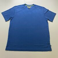 Tommy Bahama T-Shirt Size M Blue Tencel Blend Embroidered Casual Mens
