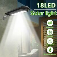 Outdoor Commercial 18 LED Solar Street Light IP65 Waterproof Dusk to Dawn Lamp
