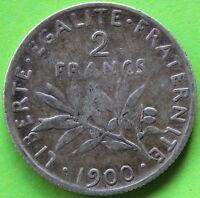 FRANCE 2 FRANCS SEMEUSE 1900