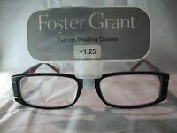 Foster Grant Gracie Brown Tortoise Reading Glasses +1.00 1.25 1.75 2.00 2.75