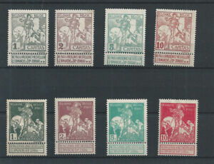 Postage Stamps Belgium 1911  - 84/91  Exhibition in Charleroi  MH*