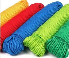 Clothes lines COTTON OR PLASTIC ROPE 10-30M colours drying clothes washing line