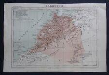 § carte MARRUECOS MAROC - 1891