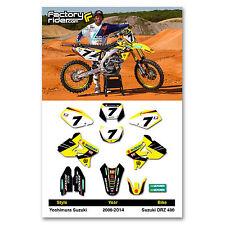 2000 - 2017  SUZUKI DRZ 400 Dirt Bike Graphics kit Motocross Graphics Decal