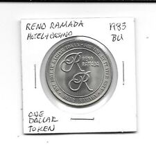 Reno Ramada Hotel & Casino Reno Nevada 1983 BU Casino One Dollar Token