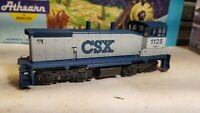 Athearn CSX sw1500 Switcher powered Locomotive train engine HO nos