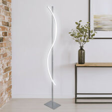 LED Stehleuchte Stehlampe Design Deckenfluter S-Form Modern Edelstahl ST28 WOW *