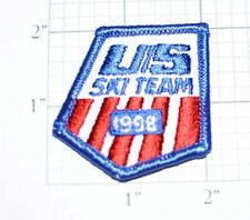 Us Ski Team 1998 Winter Olympics Souvenir Iron-On Embroidered Patch Collectible