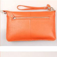 Genuine Leather Women's Wristlets Clutch Bag Purse Wallet Shoulder Bag Handbags
