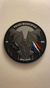 Patch Ecusson Police Municipale Bollene Brigade Nuit Gargouille 2021 PVC 3D Neuf