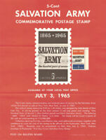 #1267 5c Salvation Army Stamp Poster- Unofficial Souvenir Page Folded HC