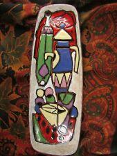 ancien petit plateau ceramique emaillee epoque 1970 vintage RSM hugo italienne