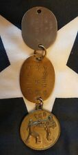 WW2 USMC Marine Corps Etched Finger Print Dog Tag John A Spannos 11-41 Japanese
