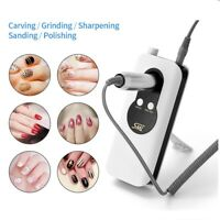 35000RPM Rechargeable Nail Art Drill Bit Set Manicure Pedicure Machine Kit White