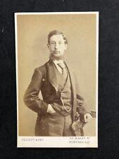 Victorian Carte De Visite CDV: Gentleman: Elliot & Fry: Named Fred ASHEY/ATLEY?