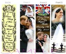 3-Royal Wedding Prince Harry Meghan Markle BOOKMARKS Invitation replica Keepsake