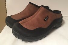 BAFFIN MENS BROWN  SLIP ON CLOGS SHOES 9