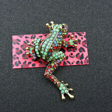 Betsey Johnson Charm Brooch Pin Gift Hot Colorful Bling Cute Frog Rhinestone