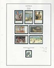 Australia Collection 1973-84 on Album Page, #573-580 Mint NH Paintings