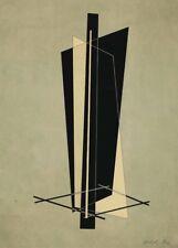 "LASZLO MOHOLY-NAGY ""Konstrucktion VI"" Bauhaus Constructivism 250gsm A3 Poster"