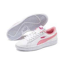 Zapatos de Mujer PUMA Smash V2L 365170 18 Zapatillas Deportivo Piel Blanco Rosa