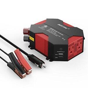 BESTEK 400W Car Power Inverter DC 12V to AC 110V Car Adapter with 5A 4 USB