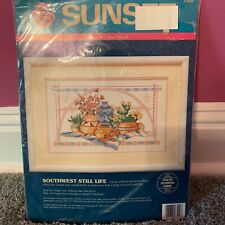 Vintage Sunset Counted Cross Stitch Kit Southwest Still Life Ann Craig #13550