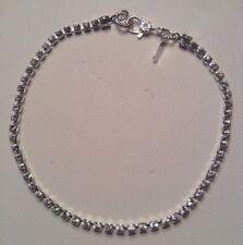 "Vintage MONET Jewelry 7.5 "" Tennis Bracelet Silver Plated & Swarovski Crystals"