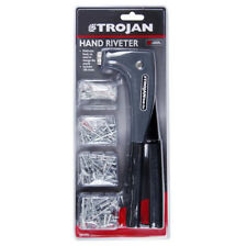 Trojan Rivet Gun Hand Tool Riveter With 100 Assorted Rivets