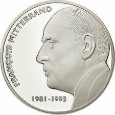 [#428737] France, Medal, François Mitterrand, FDC, Cuivre plaqué Argent