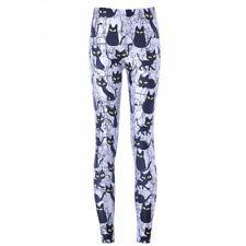 UK BLACK CAT LEGGINGS Cartoon Gift Idea Yoga Pants Loungewear Kawaii Cute Animal