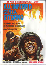 CINEMA-manifesto ALL'INFERNO SENZA RITORNO brewer, mclarty, RICHARDSON
