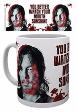 The Walking Dead Daryl Watch Your Mouth Mug 10 oZ Ceramic Brand New Official