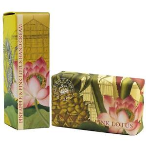 English Soap Company Kew Garden Pineapple Pink Lotus Shea Bar & Hand cream Set