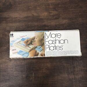 Vintage TOMY MORE Fashion Plates Set in Original Box No.2015 13 pieces